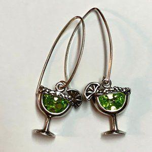 Silpada 925 Sterling Margarita Glass Earrings